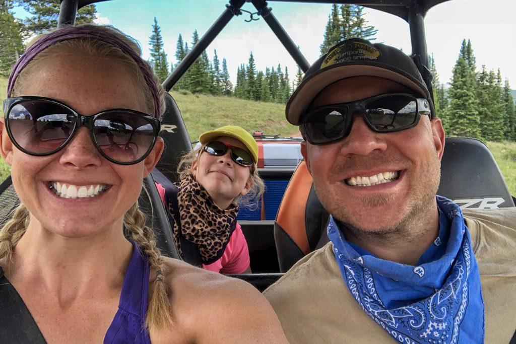 Ullrichs in a RZR enjoying the Colorado Lifestyle