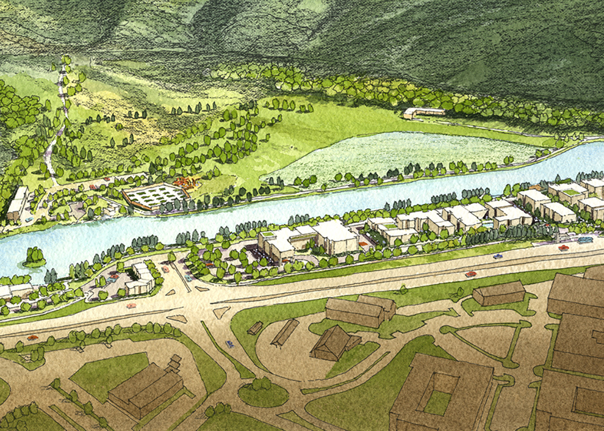 Artistic Drawing of Structures at The Tree Farm: New Housing Developments in Colorado