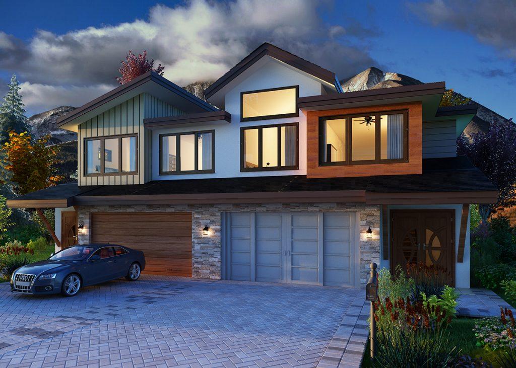 Carbondale's Thompson Park Development, Rendering of 2 Plex: New Housing Developments in Colorado Engel & Völkers Real Estate