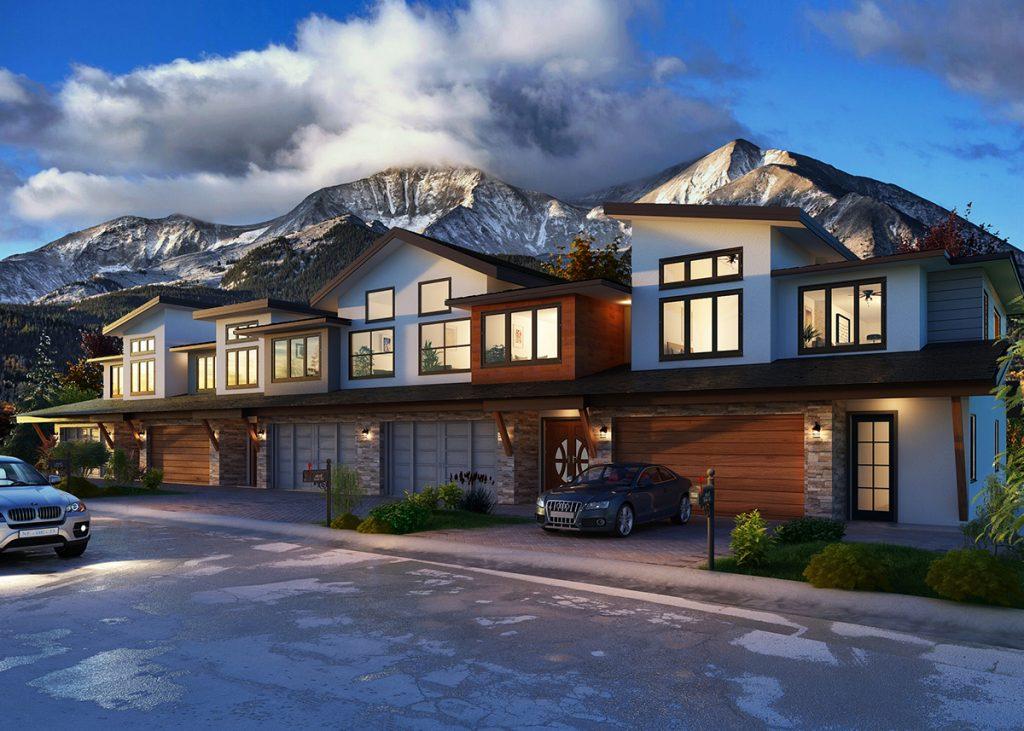 Carbondale's Thompson Park Development, Rendering of 5 Plex: New Housing Developments in Colorado Engel & Völkers Real Estate