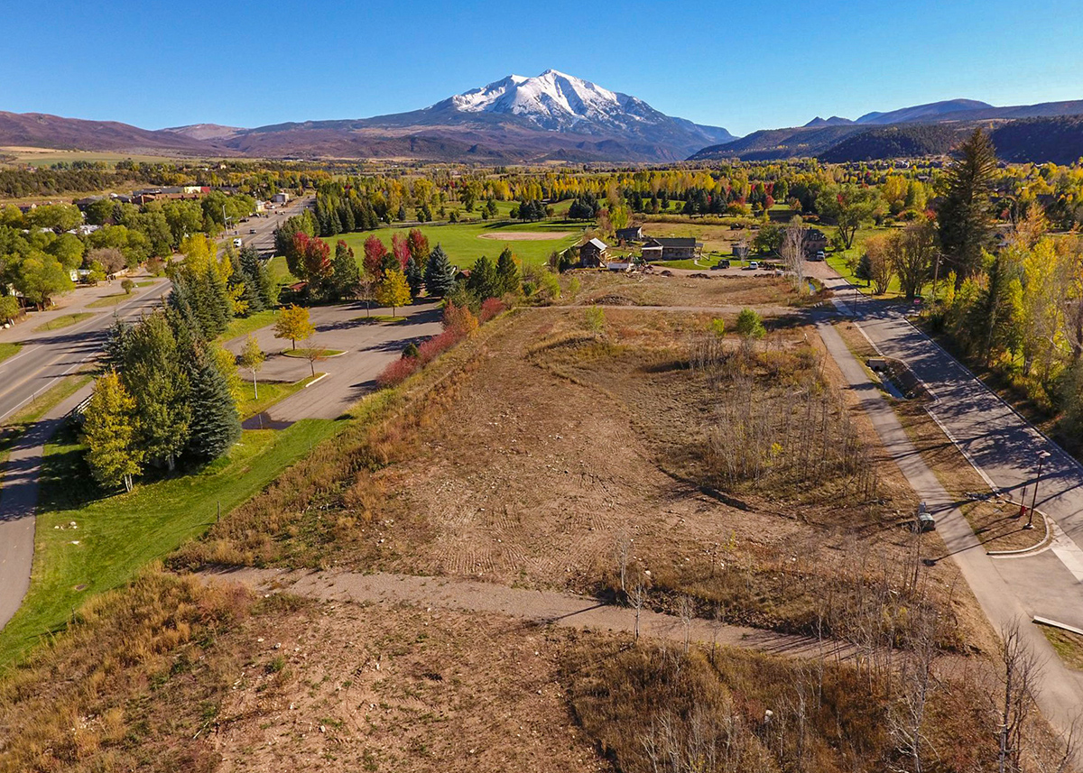 Carbondale's Thompson Park Early Phase of Development Overlooking Mt. Sopris: New Housing Developments in Colorado