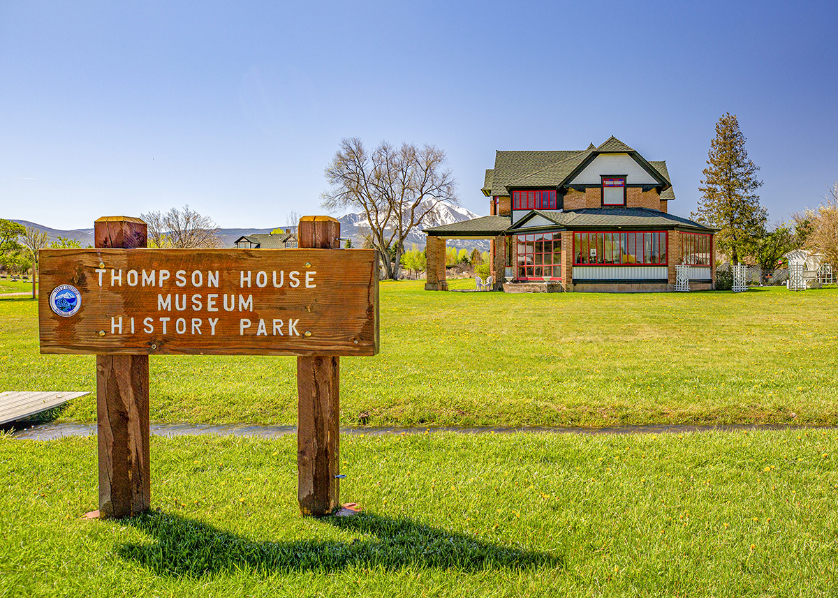 Carbondale's Thompson House Museum History Park in Front of Mt. Sopris: New Housing Developments in Colorado