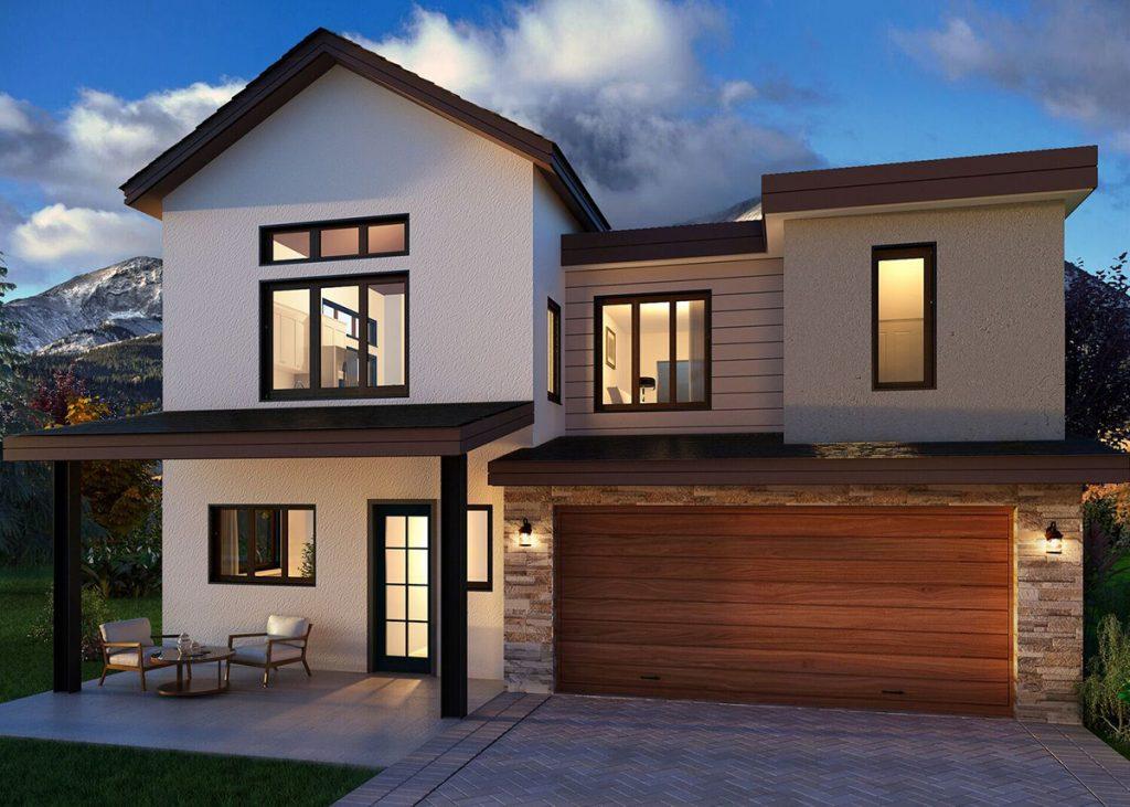 Carbondale's Thompson Park Development, Rendering of Single Family Home: New Housing Developments in Colorado Engel & Völkers Real Estate