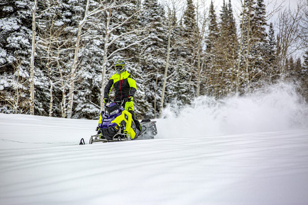a snowmobiler enjoying the Colorado lifestyle
