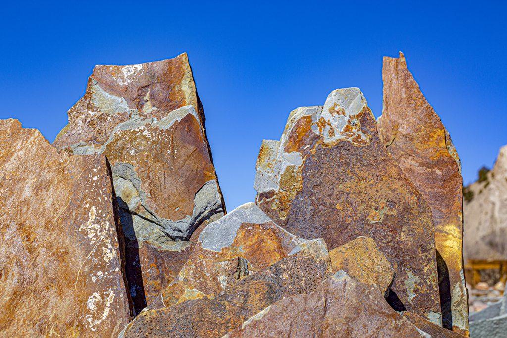 vibrant colorful stone